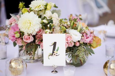 Table numbers as a decoration for your wedding tables