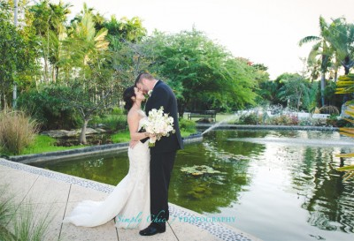 Ann and Phillip at their Miami Beach Botanical Gardens Wedding