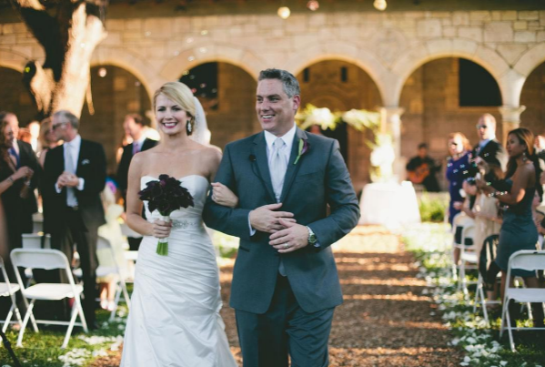 Erika & Greg at their Spanish Monastery Wedding