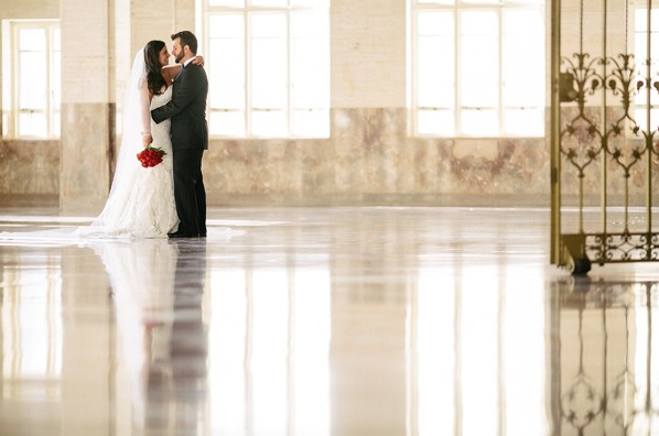 Jacqueline and John at their Alfred I. Dupont Building Wedding