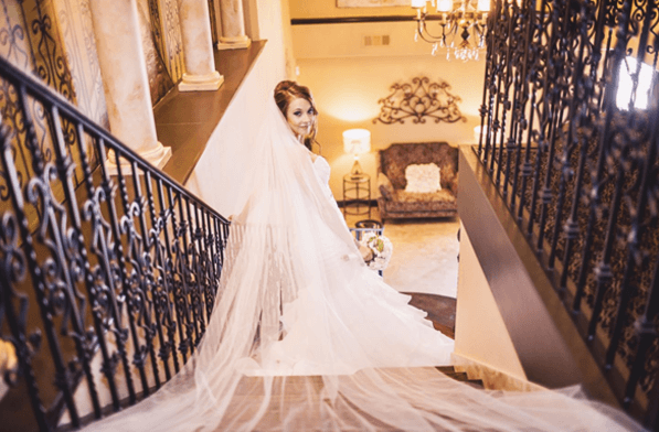 Bride on the stair